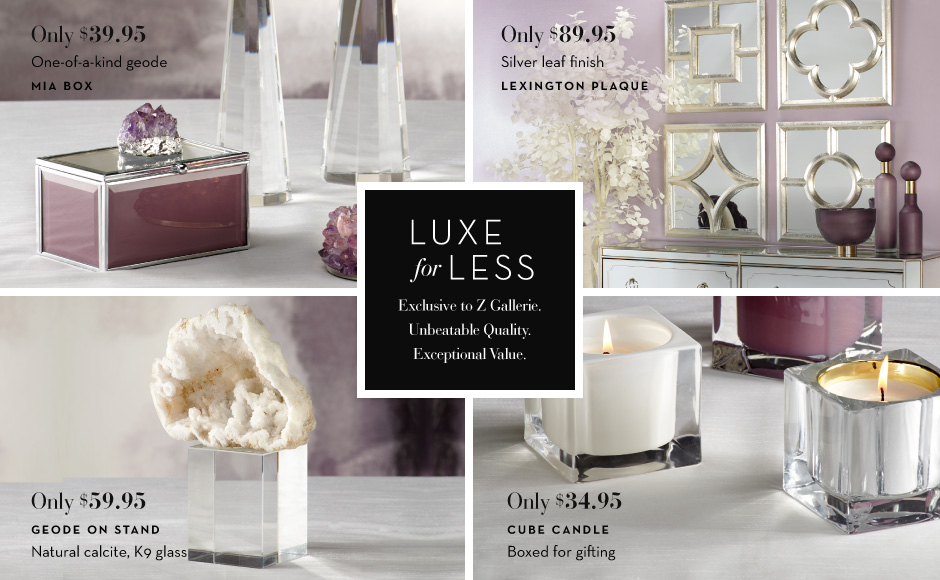 Luxe for Less Decor