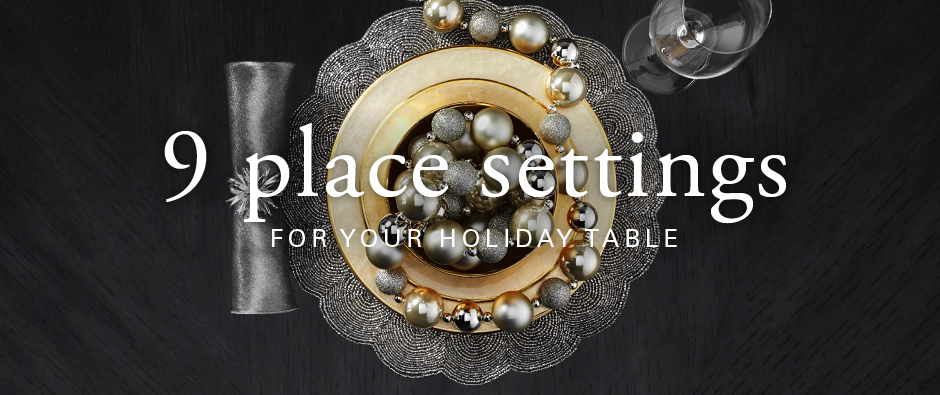 9 place settings for your holiday table