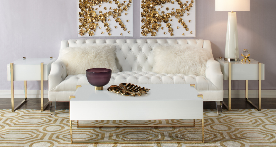 Gold Simone Living Room Inspiration