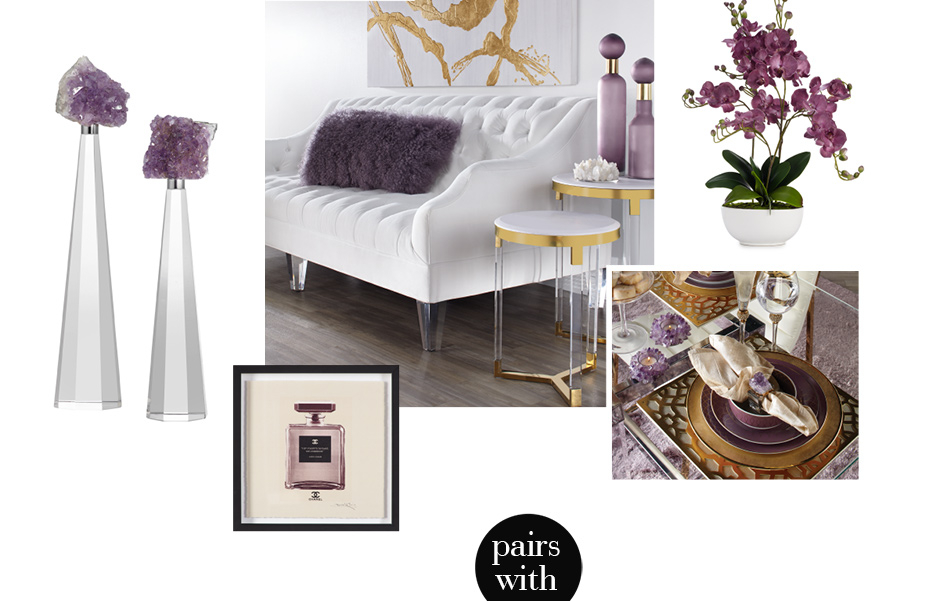Amethyst Home decor. Shop the collection