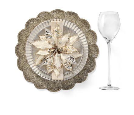 Luna Gold Dinnerware Table Setting