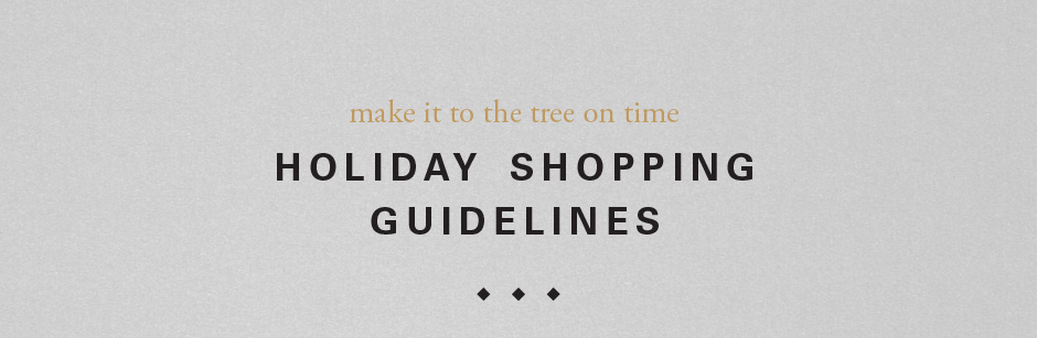 Holiday shopping guidelines
