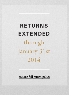Returns extended though January 31st 2014 - see full return plicy