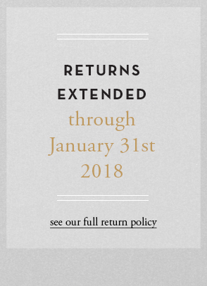 Returns extended though January 31st 2018 - see full return plicy
