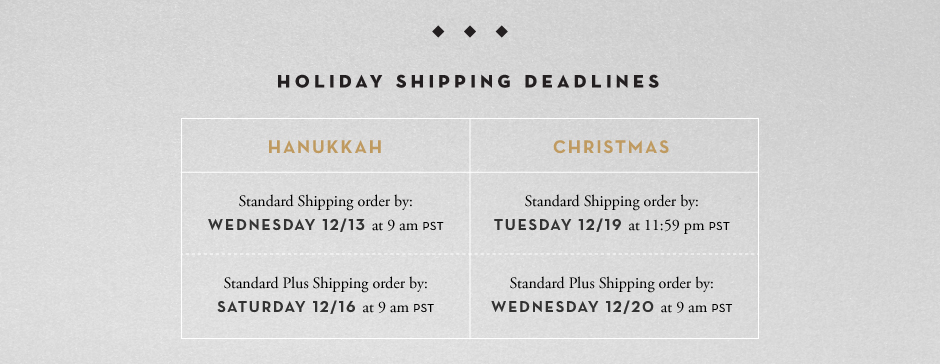 Order by Wednesday 12/20 for Christmas Delivery