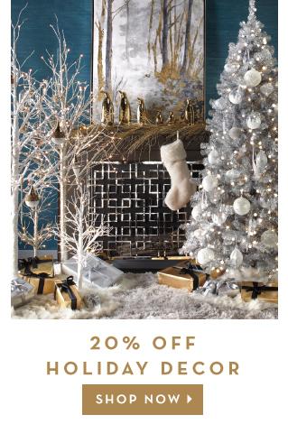 20% Off Holiday Decor