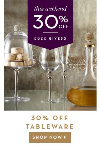 30% Off Tableware