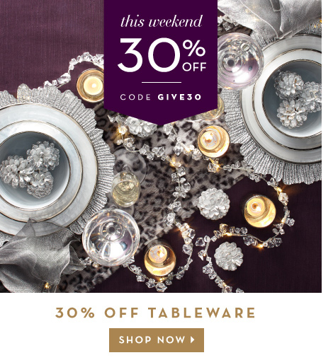 30% off tableware