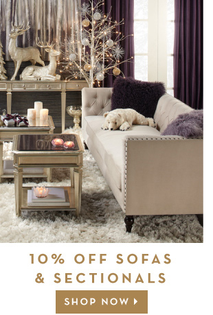 10% off sofas and sectionals