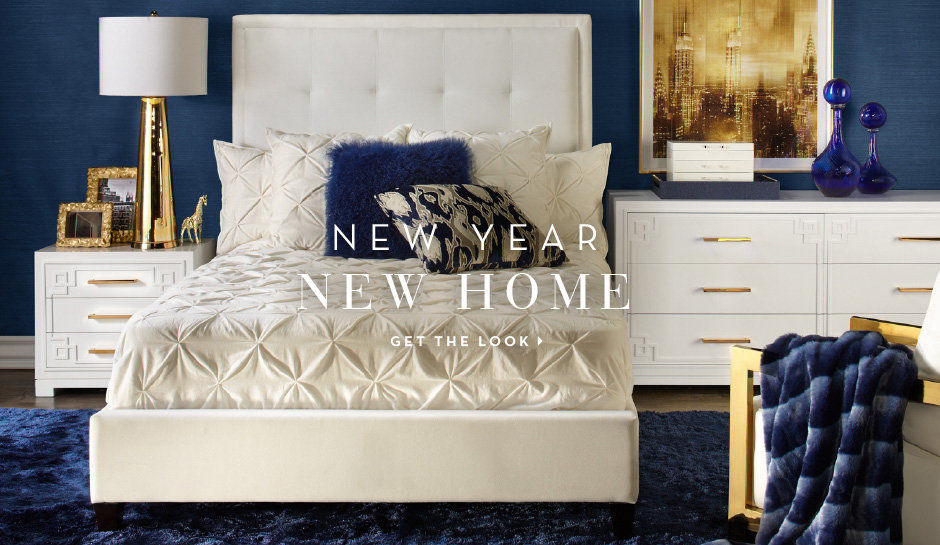 New Year. New Home. Get the bedroom look.