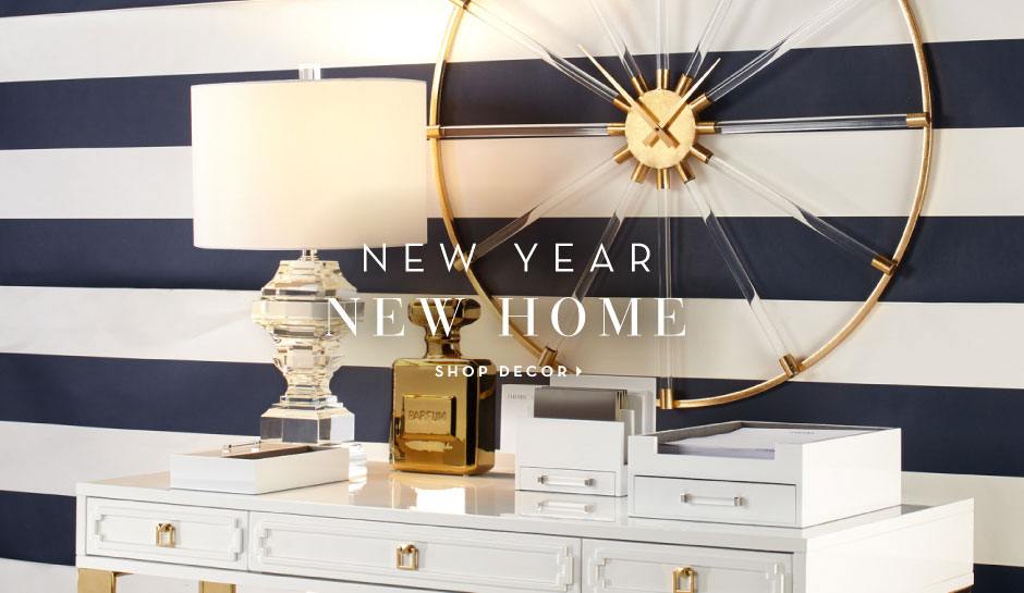 New Year. New Home. Shop Decor.