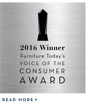 We've won Furniture Today's Voice of the Consumer Award