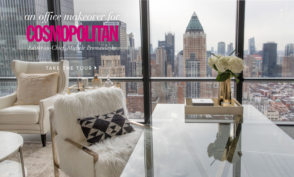 An Office Makeover for Cosmopolitan Editor-in-Chief