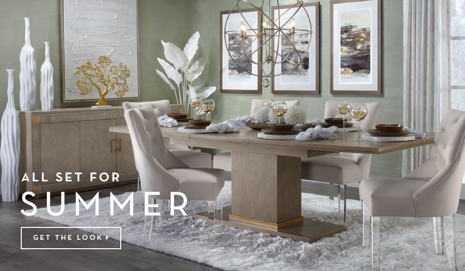 The Quinn Dining Room is All Set for Summer. Get the Look >