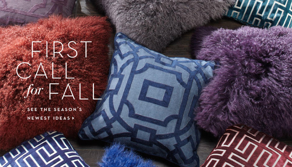 First Call For Fall - Shop New Pillows