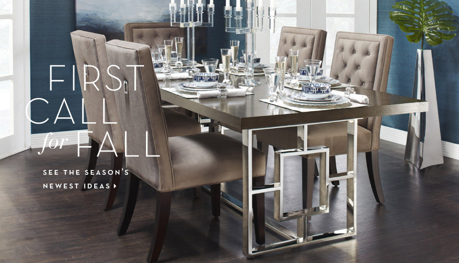 First Call For Fall - Shop New Furniture