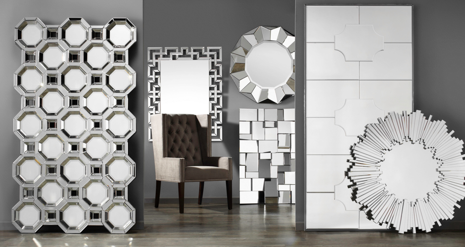 Mirrors accent wall large floor mirrors z gallerie for Decorative mirrors for less
