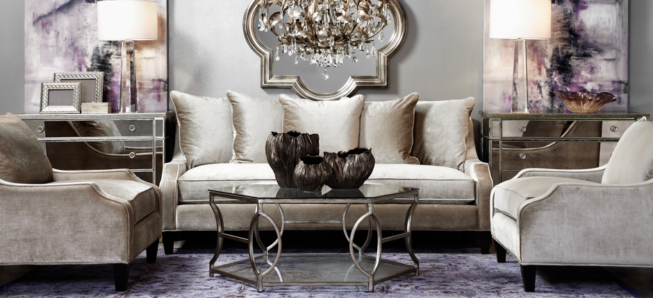 Stylish home decor chic furniture at affordable prices for Z gallerie living room inspiration