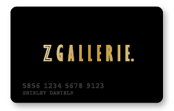z gallerie credit card