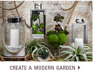 Create a modern garden