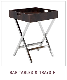 Shop bar tables and trays