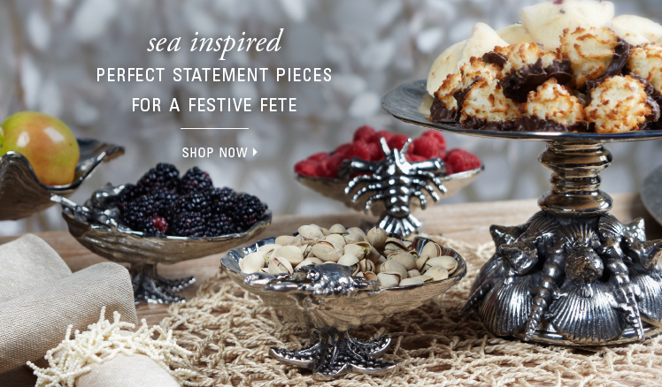 Sea inspired serveware