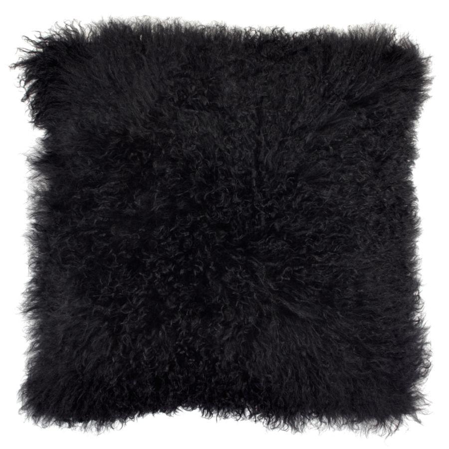 White Mongolian Fur Pillow | Chic Accents