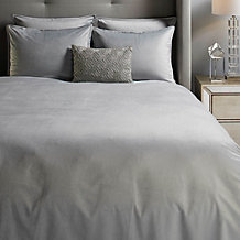 Windsor Velvet Bedding - Silver
