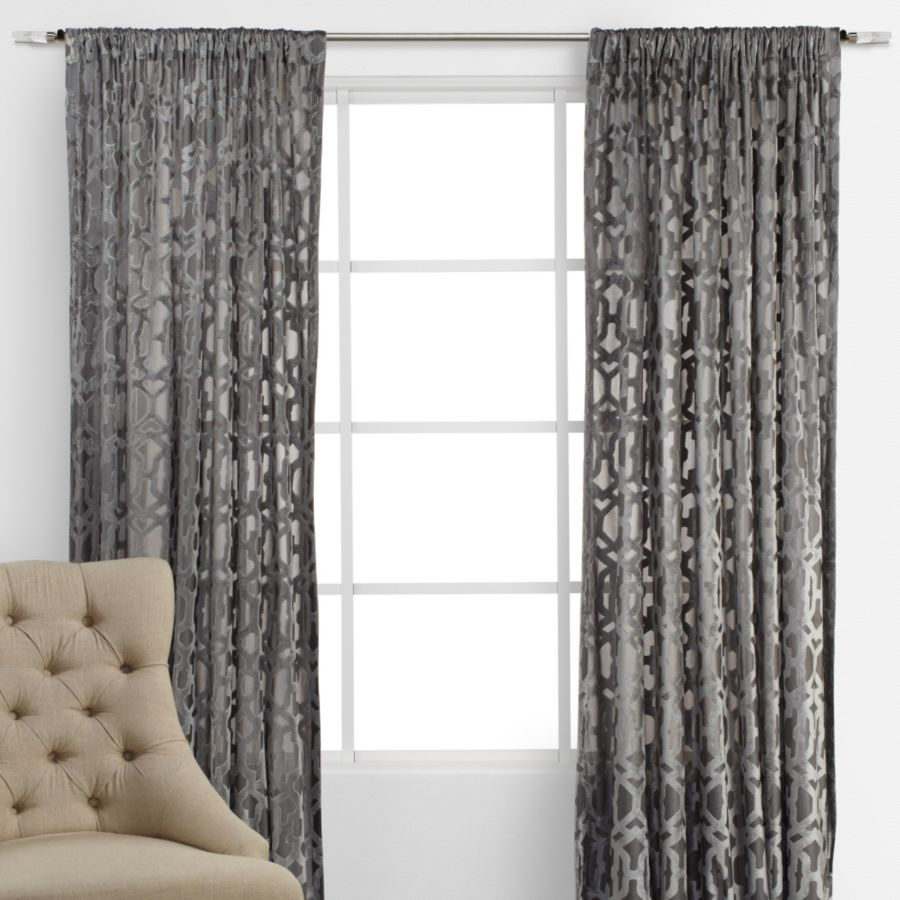 zoom com curtain curtainworks ikat chevron drapes linen loading panel window grommet