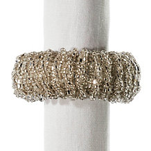Beaded Napkin Ring Set