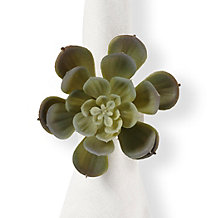 Succulent Napkin Ring - Set of 4