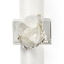 Geode Napkin Ring - Set of 4