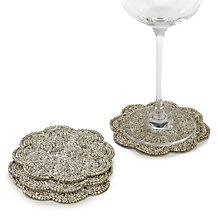 Sterling Beaded Coaster - Set of 4