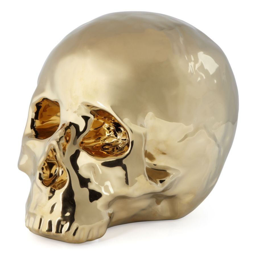 Ceramic Skull Head | Chic, Gold Decorative Skull | Z Gallerie