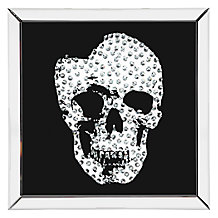 Skull Mirrored Plaque