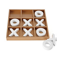 Tic Tac Toe Game - Gold & White