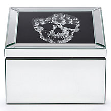 Skull Mirrored Jewelry Box