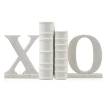 XO Marble Bookends