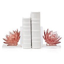 Lotus Flower Bookends