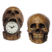 Skull Table Clock