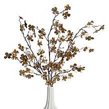 Metallic Dogwood Spray - Set of 3