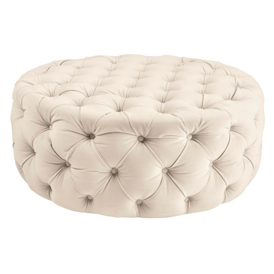 au bk leather fs yds pvc round ottoman black com lea