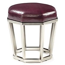 Pyre Hexagon Stool - Aubergine