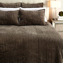 Mardon Velvet Bedding - Grey Mocha