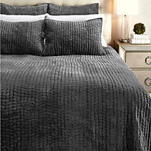 Mardon Velvet Bedding - Charcoal