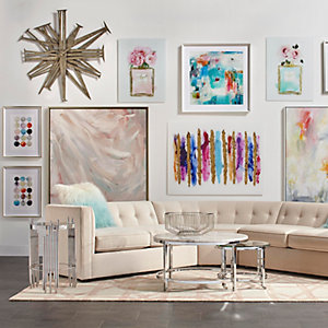 Colorful Artwork Living Room Inspiration