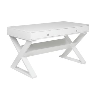 Jett Desk   White Lacquer