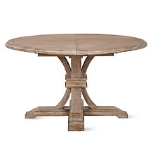 Archer Wash Oak Extending Pedestal Dining Table
