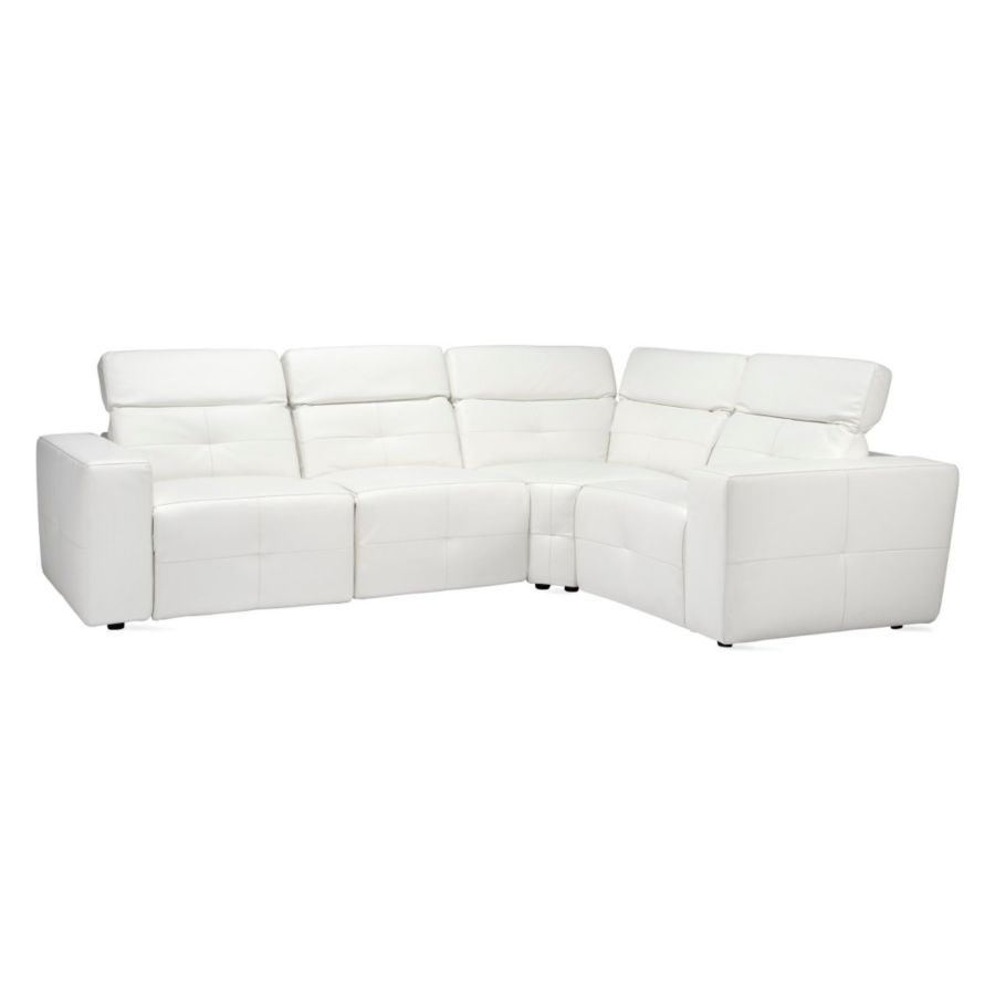cado ct modern white nicoletti italian sparta furniture sofa leather sectional