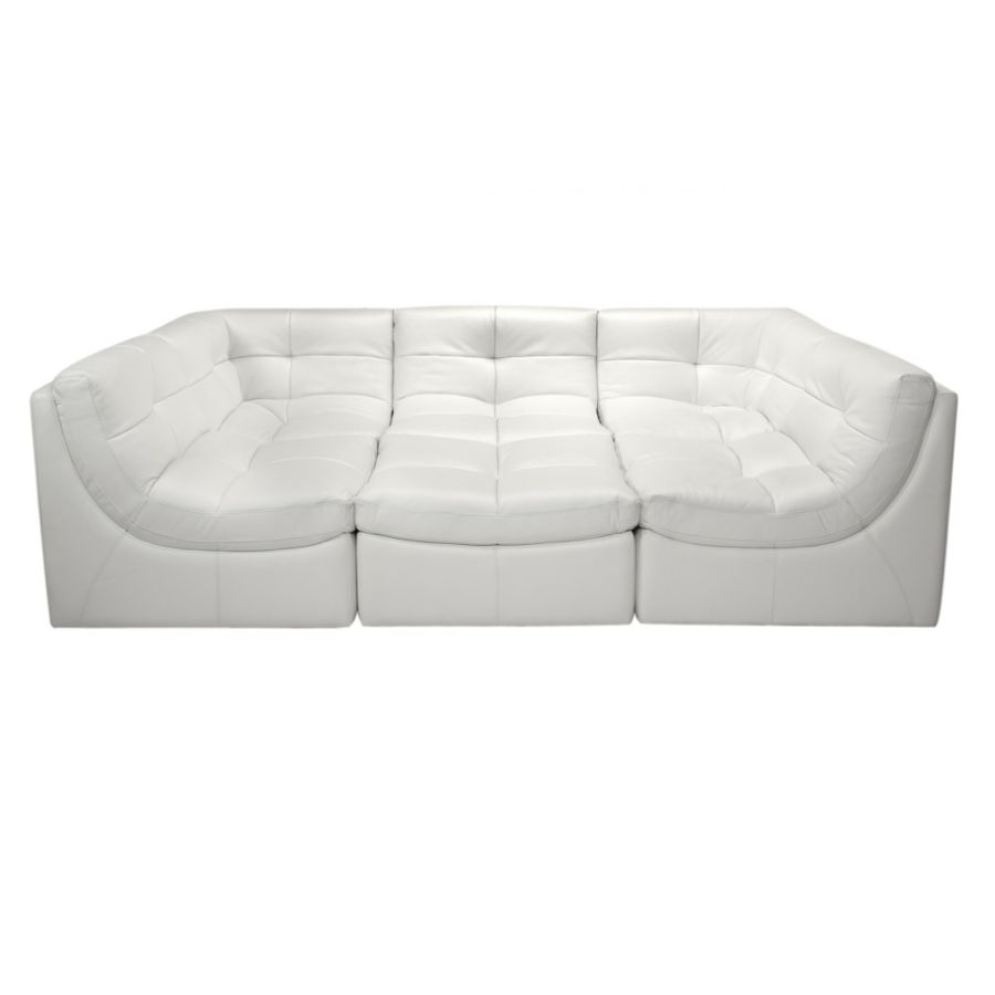 sofa in image sectional p bonded leather white